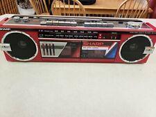 Old Vintage Sharp Wq-562 Boombox Ghettoblaster Portable Radio/ Stereo