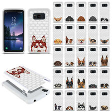 """For Samsung Galaxy S8 Active G892A 5.8"""" Dog Design Bling Hybrid Case Cover"""