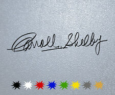 STICKER PEGATINA DECAL VINYL Carroll Shelby Signature