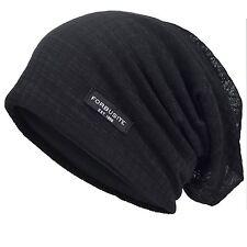 Men Cool Slouch Beanie Thin Summer Skull Cap Long Baggy Hip-hop Cap B018h Black