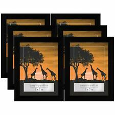 Americanflat 6 Pack - 5x7 Picture Frames - Display Pictures 5x7 Inches