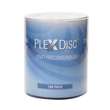 100 PC PlexDisc 16X 4.7 GB DVD-R Logo Top Disc Blank Media 632-817-BX