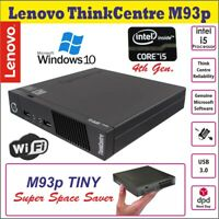 Lenovo ThinkCentre M93p Intel Core i5-4570T Micro Desktop PC 2.9GHz Wi-Fi Win10P
