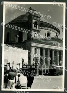 1946 Malta  - Rotunda of Mosta adjacent bomb damage repaired- photo 8 by 5.5cm