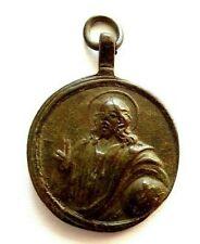 Antikes Schutzamulett 18.Jh. Pilger Bronze Jesus und Maria  getragenes Original!