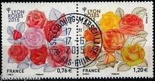 Y&T 4957-4958 Dyptique Les Roses de 2015  OBLITÉRÉ