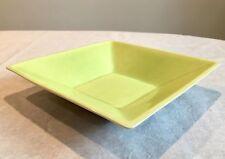 "Vintage Cali-Cali California Pottery Bowl - 10"" Square - Chartreuse & Blue"