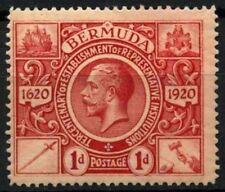 Bermuda 1921 SG#76, 1d Deep Carmine KGV MH #D56684