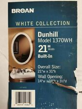 "Broan Dunhill built-in mirrored medicine cabinet 21"" x 31"" 1370wh"