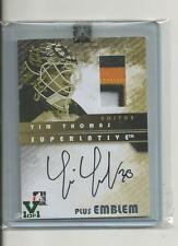 Tim Thomas Superlative Vault 1/1 on SAP-TT Autograph plus Emblem, Emerald Logo
