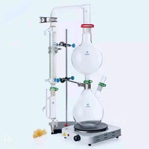 Lab Glass Essential oil steam distiller distillation apparatus distilling kit