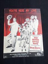 Bob Hope-Partitura Para La Canción-que usted está aquí mi amor