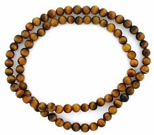 5mm Round Golden Tigereye Natural Gem Stone Bead 15 Inch Strand TB32oth