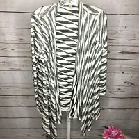 Maria Gabrielle Womens Open Front Cardigan Sweater Size Large