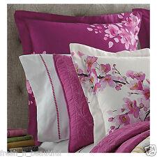 bluebellgray Cherry Blossom Pink Berry Fuchsia Watercolor Floral European Sham
