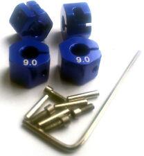 RC 1/10 Car 12mm hex 9mm Alloy Locking Lock Wheel Rim Adapter Adaptor Hub BLUE