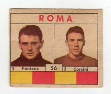 figurina CALCIATORI VAV 1961 numero 56 ROMA FONTANA, CORSINI