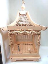 Vintage Decorative Wood And Metal Bird Cage