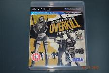 La casa de los muertos Overkill Corte extendido PS3 Playstation 3 con lentes 3D