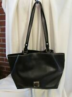 Dooney & Bourke Saffiano Leather Tote - Small Flynn  HANDBAG $264 BLACK