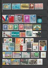 42 timbres des PAYS-BAS Oblitérés de1963 à 2004 bon état identique au scan