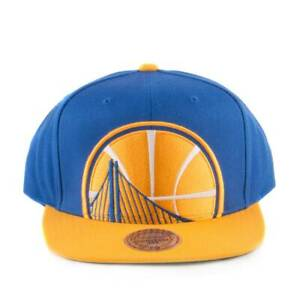 Mitchell & Ness Golden State Warriors Cropped XL Snapback  Blue/Yellow