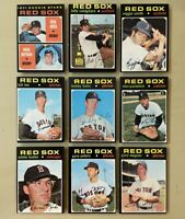 1971 Topps Red Sox set of 13 NM Reggie Smith, George Scott, Conigliaro Rookie