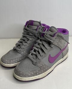 Nike Dunk High Skinny Womens Size 6,5 Gray Purple