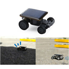 Smallest Mini Solar Power Robot Toy Car Auto Educational Children Kids Funny New