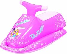 Pink Inflatable Jet Ski Rider Ride On Swimming Pool Beach Float Kids Girls 1001
