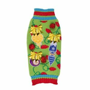 Q Pet Holiday Ugly Dog Sweater Lights Bows Christmas Small 10-14 Inch Long