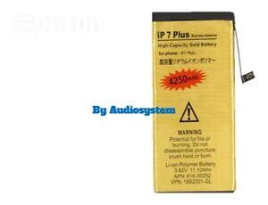 BATTERIA MAGGIORATA 4250Mah APPLE IPHONE 7 PLUS 0 CICLI POTENZIATA A1661 A1784