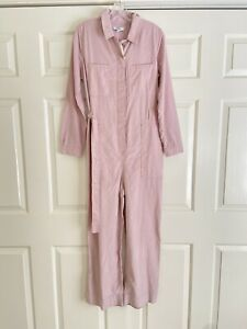 Nwt Madewell Corduroy Belted Jumpsuit Wisteria Dove Sz 8 M L K3347 Pink Lavender