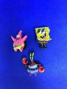 Sponge Bob & Friends 3 Pack Authentic Crocs Jibbitz (NEW)