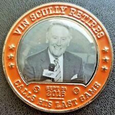 LA Dodgers Great Moments 76 Commemorative Coin Vin Scully Retires