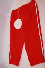 Chloe Kids Fleece pant with braided piping pop red 12 months