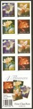 3457e - 34c UNFOLDED booklet of 20 - 4 FLOWERS - non-denominated
