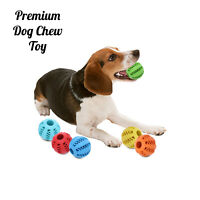 Dog Chew Ball Toy Rubber Feeder Treat Gum Teeth Bite Puppy