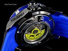 Invicta 47mm Grand Diver AUTOMATIC Blue Dial Gunmetal Case Black Silicone Watch