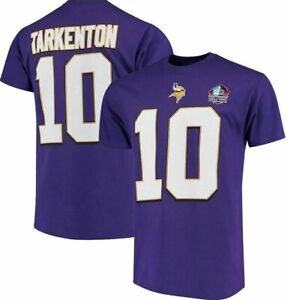 Fran Tarkenton Minnesota Vikings Hall Of Fame Purple Jersey T-Shirt - Small