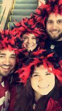 Atlanta Falcons Red Black Feather Costume Wig Team Spirit Season Ticket Holder