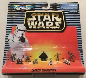 Star Wars Micro Machines - Classic Characters x9 (inc Darth Vader)
