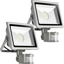 2X30W Kaltweiß Flutlicht SMD Fluter LED Strahler mit Bewegungsmelder Lampe IP65