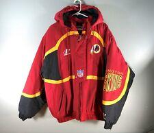 RARE Vintage Pro Line Logo Athletic Washington Redskins Puff Jacket Full Zip L