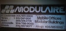 VINTAGE SIGN! MODULAIRE MOBILE OFFICES & MODULAR BUILDINGS SIGN!
