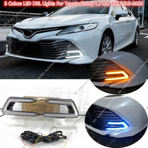 3 Colors Daytime Running lamp DRL Fog Light For Toyota Camry L LE XLE 2018-2020