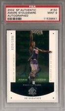 PSA 9 2002-03 SP AUTHENTIC AMARE STOUDEMIRE AUTO RC - PHOENIX SUNS NY KNICKS