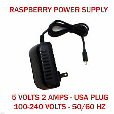 5V 2A Micro USB Charger Adapter Cable Power Supply for Raspberry Pi B+ B US Plug