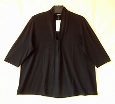 Samoon Shirt by Gerry Weber schwarz fließender Jersey ViskoseStretch Damen Gr.50