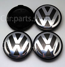 4x 65mm VW Wheel Center Caps Emblem- Golf PASSAT Touran Cover Hub 3b7 601 171